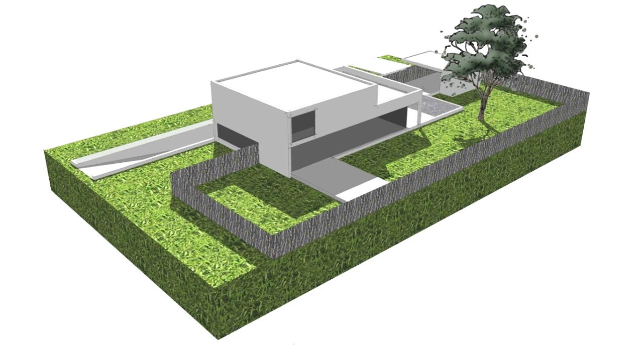 06.008 - Villa Lanaken - Impressie Tuingevel